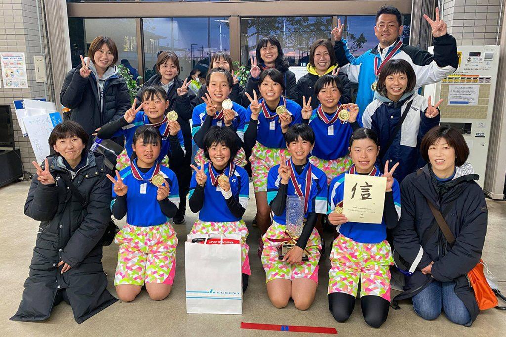 女子優勝愛知県,ソフトテニスフェスタ2021,令和2年度全国中学生 ソフトテニス対抗戦